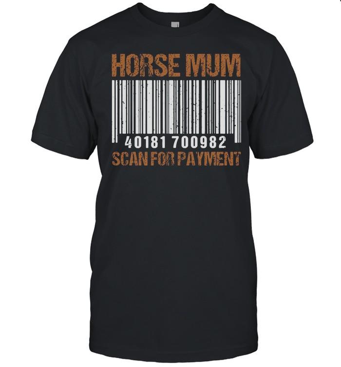 Horse Mum Scan For Payment T-shirt Classic Men's T-shirt