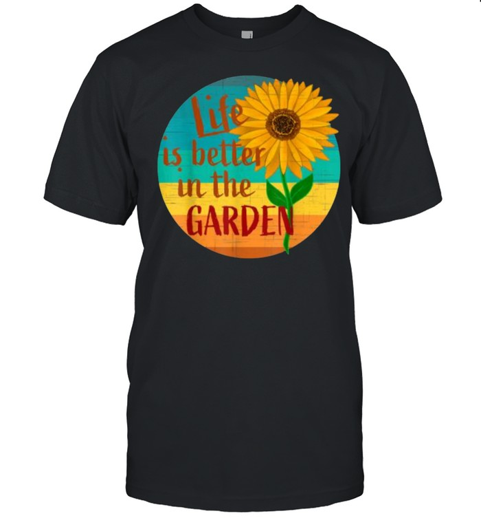 Life is Better in the Garden Sunglasses Vintage T- Classic Men's T-shirt