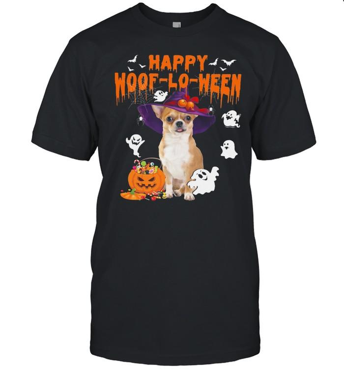 Chihuahua Witch Happy Woof lo ween Halloween shirt Classic Men's T-shirt