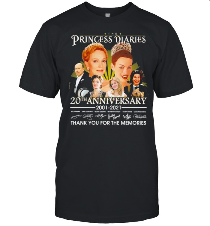 The Princess diaries 20th anniversary 2001 2021 thank you for the memories signatures shirt Classic Men's T-shirt