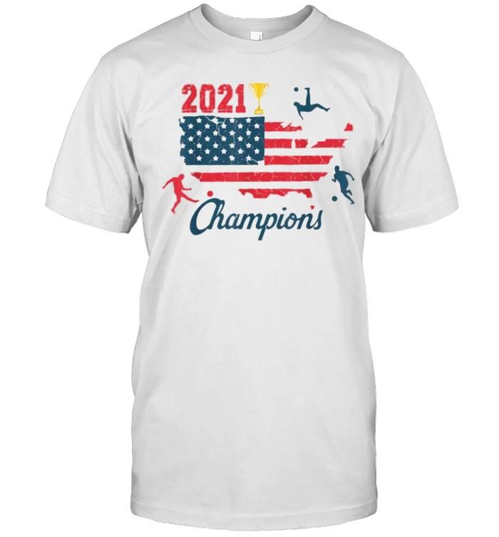 USA 2021 Soccer Champions American Flag T- Classic Men's T-shirt