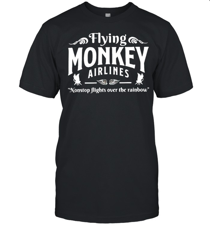 Flying monkey airlines nonstop flights over the rainbow shirt Classic Men's T-shirt