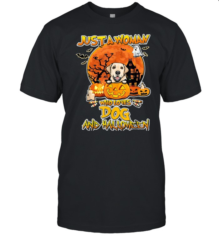 Labrador Just A Who Loves And Halloween shirt Classic Men's T-shirt