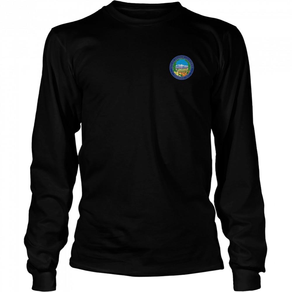 ANAHEIM FLAG SEAL CALIFORNIA ORANGE COUNTY shirt Long Sleeved T-shirt