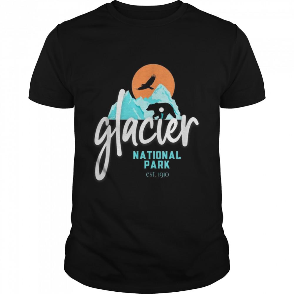 Retro Glacier National Park Montana Mountains Vintage shirt Classic Men's T-shirt